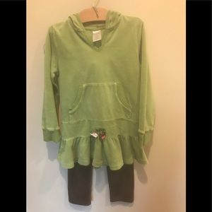 Gymboree tunic top w/hoodie and ruffles bottom
